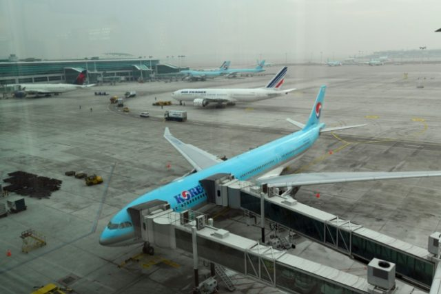 "South Korean police launched an inquiry into the sister of Korean Air's infamous ""nut rage"" heiress Friday over claims that she hurled water into a man's face during a business meeting"