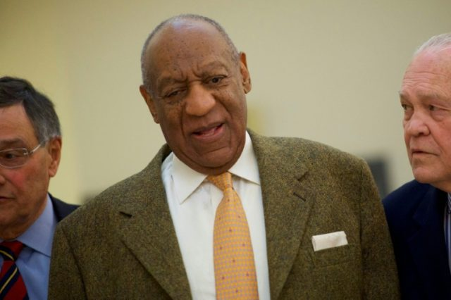 Bill Cosby is seen here during a break in his sexual assault retrial in Norristown, Pennsylvania