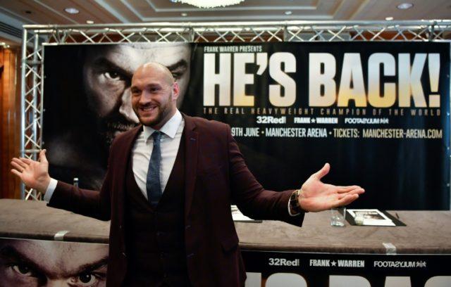 Fury hasn't fought since beating Wladimir Klitschko in November 2015.