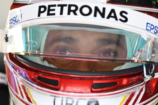 Mercedes' Lewis Hamilton finished four tenths of a second faster than Finland's Kimi Raikkonen driving for arch-rivals Ferrari in the opening free practice at the Chinese Grand Prix