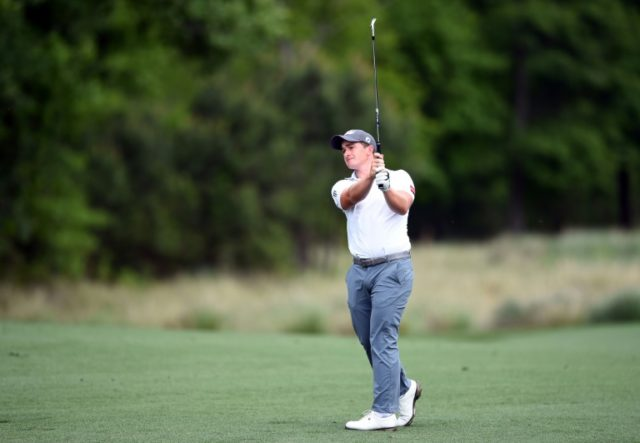 Paul Dunne of Ireland plays his second shot from the fairway on the second hole during the final round of the Houston Open at the Golf Club of Houston on April 1, 2018 in Humble, Texas