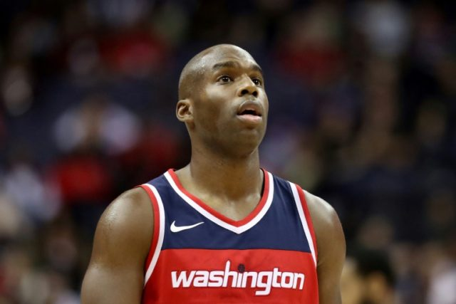 Jodie Meeks of the Washington Wizards looks on against the Cleveland Cavaliers at Capital One Arena on November 3, 2017 in Washington, DC