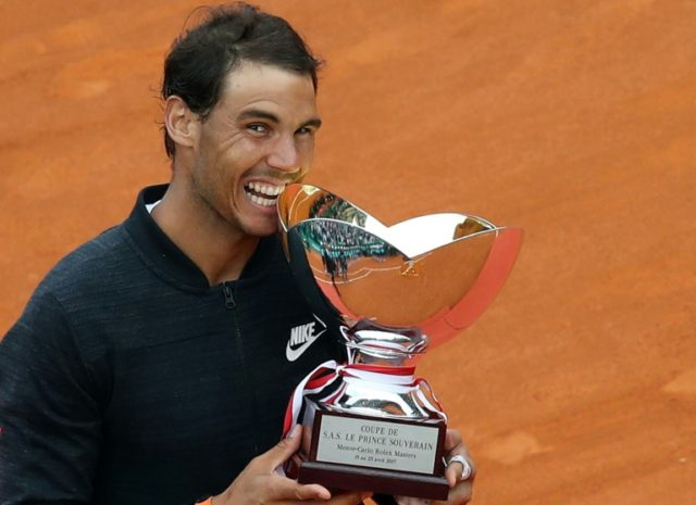 Rafael Nadal claimed his 10th Monte Carlo Masters title last year with victory over Albert Ramos Vinolas in the final