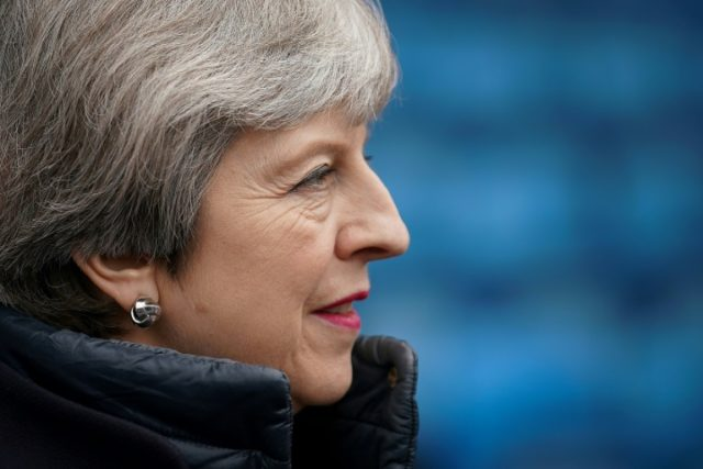 May also alluded to a nerve agent attack in Britain last month on a former Russian spy and his daughter.
