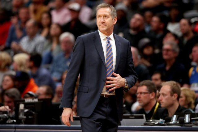 Jeff Hornacek, pictured in January 2018, was fired by the New York Knicks