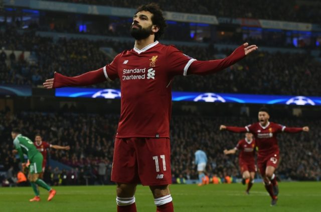 Mohamed Salah scored the vital equalising goal, his 39th of the season, in the Champions League quarter-final at Man City