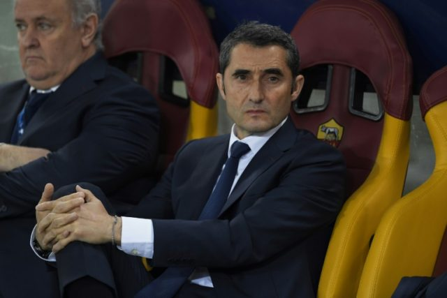 Barcelona coach Ernesto Valverde has told his team to dry their tears and get on with winning the Spanish league
