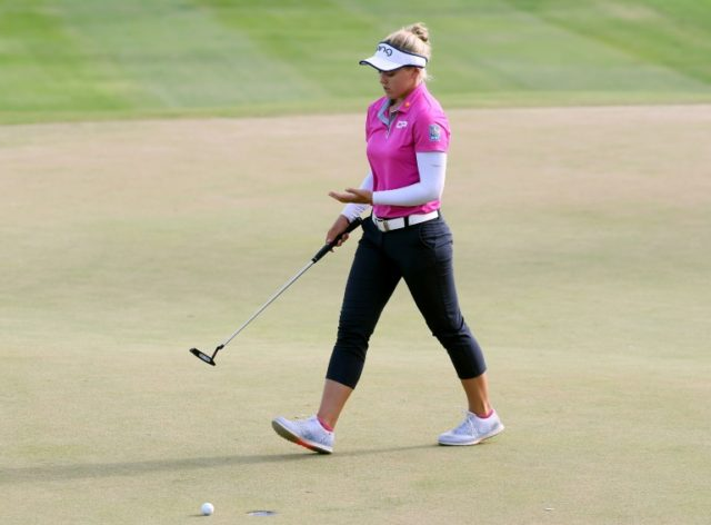 Brooke Henderson had looked poised to take a comfortable four-shot cushion into the fourth round after a battling display on the par-72 course at Ko Olina Golf Club, Oahu