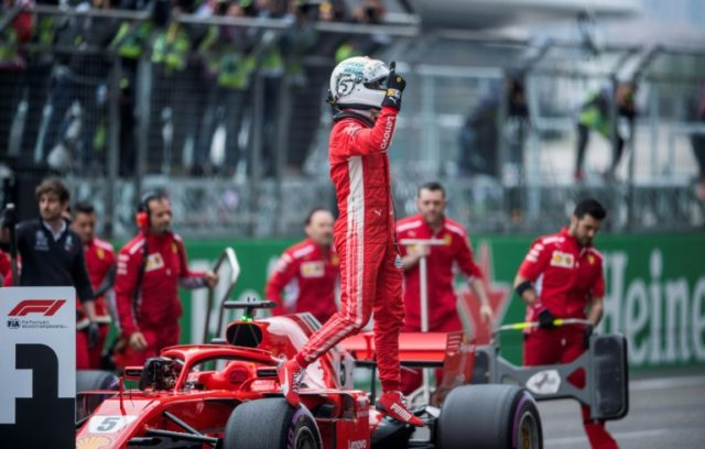Sebastian Vettel's blistering lap ensured back-to-back front row lockouts for Ferrari for the first time in 12 years