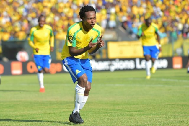 Mamelodi Sundowns Percy Tau, pictured in 2016, is the favourite to be crowned South African Footballer of the Season