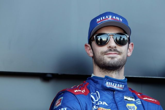 Alexander Rossi held off Will Power at the finish of the 85-lap feature on the streets of Long Beach