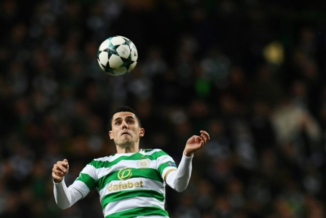Tom Rogic, pictured in 2017, was among the goal scorers as Celtic thrashed Rangers in the Scottish Cup