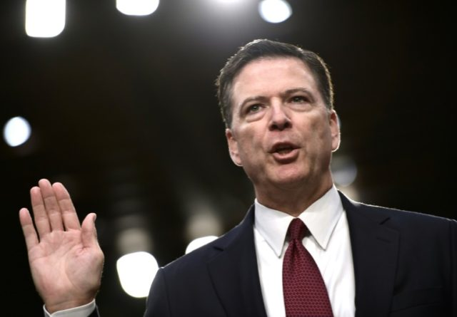 Former FBI chief James Comey was fired by US President Donald Trump in May 2017
