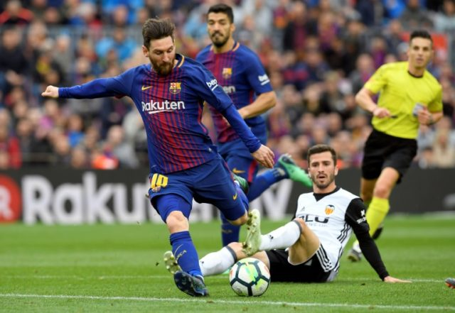 Lionel Messi played in Barcelona's weekend win against Valencia. He may be rested against Celta on Tuesday