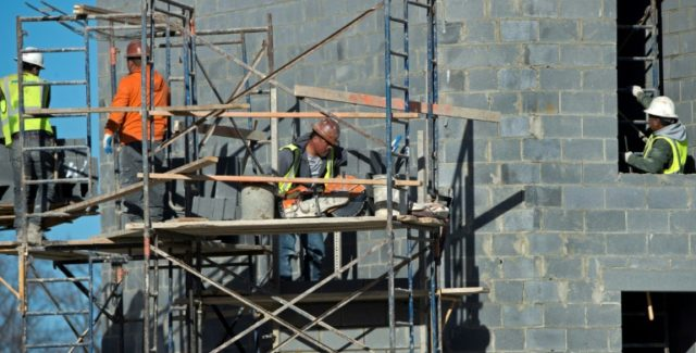 Construction of apartment buildings is on the upswing in the United States, government figures show