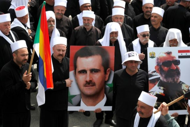 Golan Druze rally in support of Syria's Assad