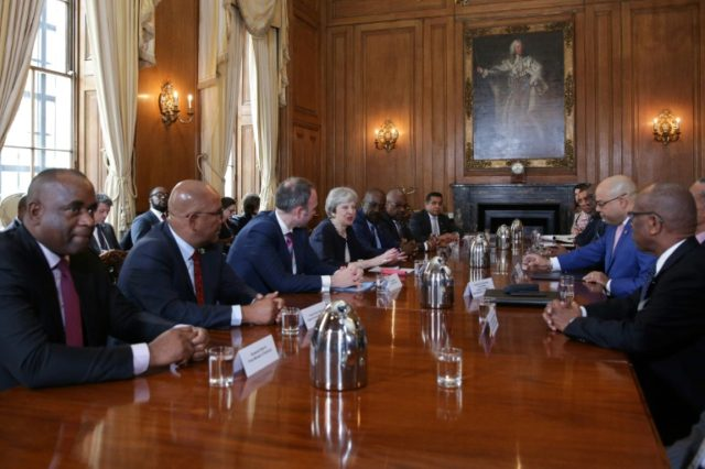 Britain's Prime Minister Theresa May meets Commonwealth Caribbean leaders to dicusss their concerns over treatment of their migrants in Britain