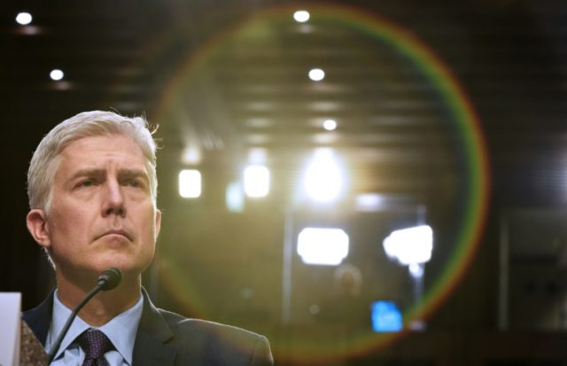 President Donald Trump's nominee Neil Gorsuch became a justice on the US Supreme Court in April 2017