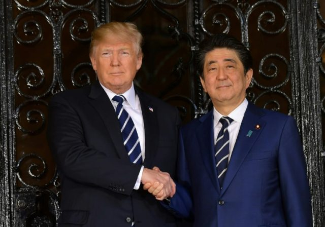 "Hosting Japanese Prime Minister Shinzo Abe at his Florida resort of Mar-a-Lago, US President Donald Trump said he saw ""a great chance"" of resolving the North Korean nuclear crisis"