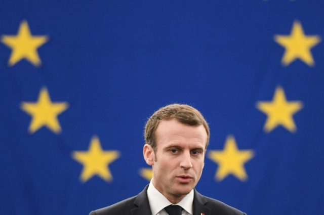 French President Emmanuel Macron made his first speech before the European Parliament