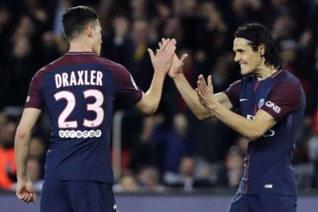 PSG duo Julian Draxler and Edinson Cavani