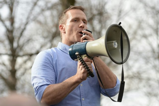 Missouri Governor Eric Greitens, pictured in 2017, may have committed a felony by using a charity's donor list without permission to raise funds for his 2016 campaign