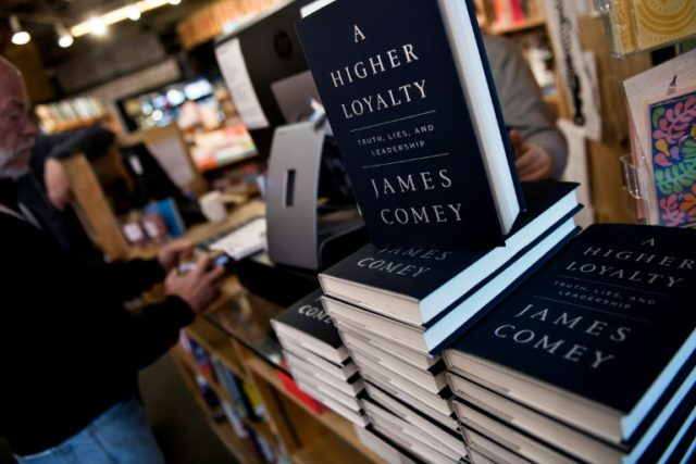 """The explosive new memoir by former FBI director James Comey, """"A Higher Loyalty,"""" hit bookstore shelves on April 17"""