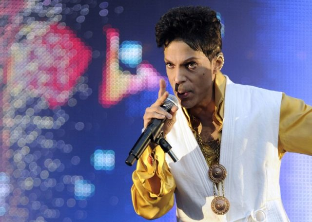 Items belonging to late pop icon Prince -- shown here performing in France in 2011 -- will go under the hammer in New York in May