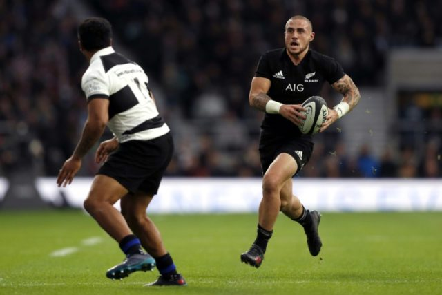 New Zealand's TJ Perenara (R) has said homophobic comments like the ones made recently by Israel Folau cannot be tolerated