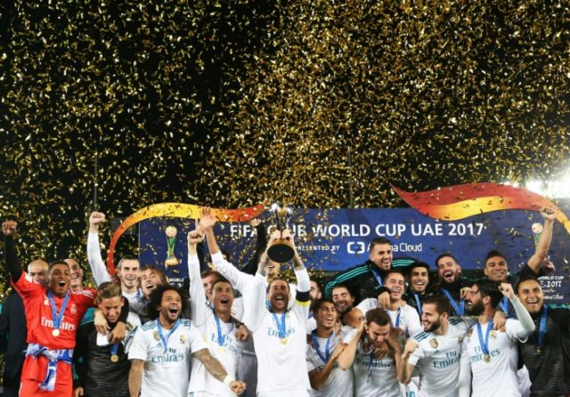 Real Madrid retained the Club World Cup in Abu Dhabi in December