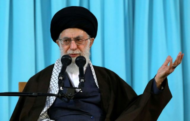 Iran's supreme leader Ayatollah Ali Khamenei gives a speech in the northeastern holy city of Mashhad on March 21, 2018
