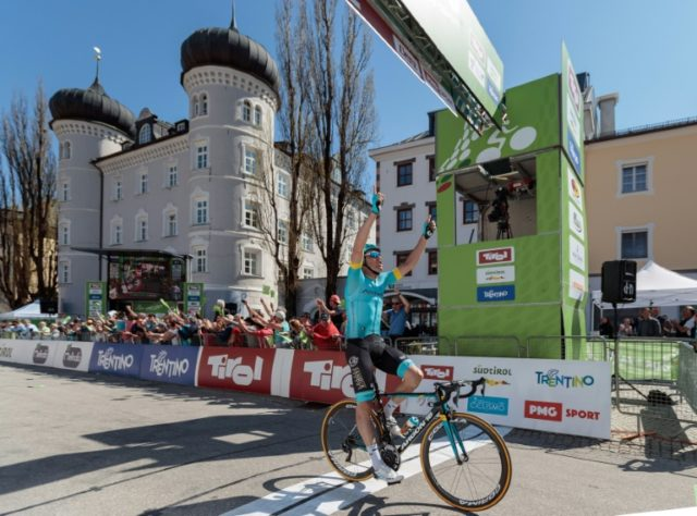 Spain's Luis Leon Sanchez won the fourth stage of the Tour of the Alps in Lienz