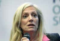 "The remarks by Federal Reserve Board Governor Lael Brainard, seen in 2015, that it's ""premature"" to ease requirements on banks holding buffers in reserve, stood in contrast to her two fellow board members, Chairman Jerome Powell and Randal Quarles"