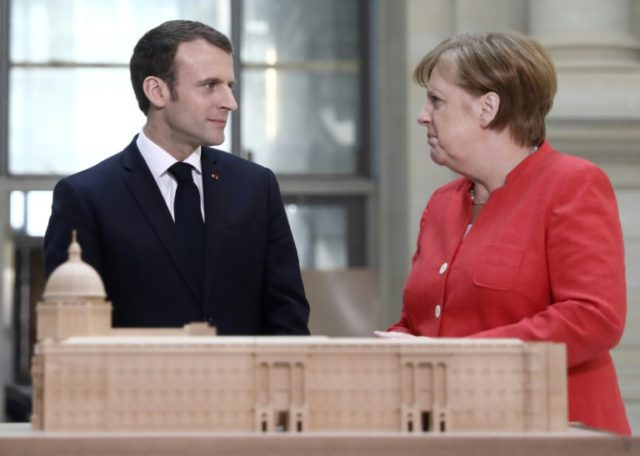 German Chancellor Angela Merkel and French President Emmanuel Macron spoke about their plans for the reform of the eurozone