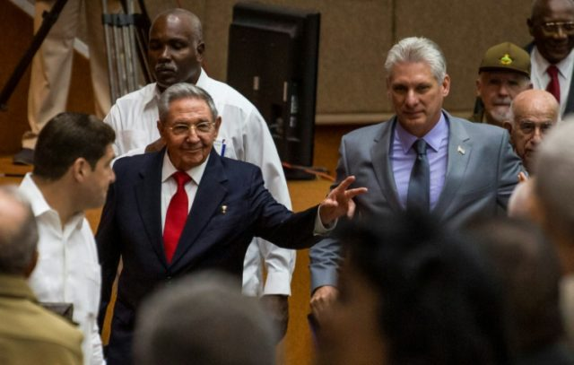 Cuban President Raul Castro (L) will be succeeded on Thursday by his 57-year-old First Vice-President, Miguel Diaz-Canel (R)