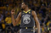 Kevin Durant weighed in with a 30-point game as the Warriors powered to a 116-101 win that puts the NBA champions 2-0 up in their best-of-seven series against the Spurs