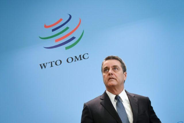 WTO director-general Roberto Azevedo said escalating trade tensions between the world's largest economies could have serious risks on world growth