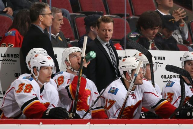 Head coach Glen Gulutzan of the Calgary Flames compiled a record of 82-68 with 14 overtime defeats in his two seasons behind the Calgary bench