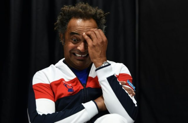 Plenty to think about: France captain Yannick Noah at Friday's draw