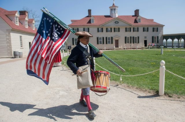 Mount Vernon, the colonial mansion of America's first president and founding father George Washington, is the setting for a private dinner on April 23, 2018 for US President Donald Trump, visiting French leader Emmanuel Macron and their wives