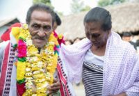 Khomdram Gambhir Singh was welcomed home to remote Manipur 40 years after he left, reunited with family when someone saw a YouTube video of him singing