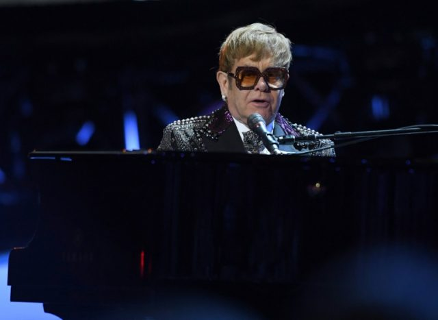 Elton John pictured performing in New York on January 30, 2018