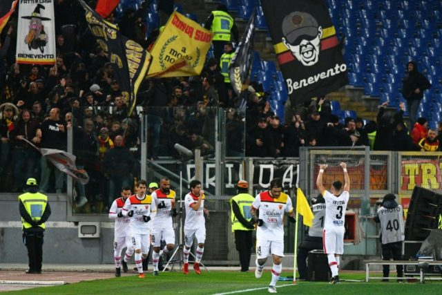 Benevento have won just five times in 34 matches in their first season in Serie A