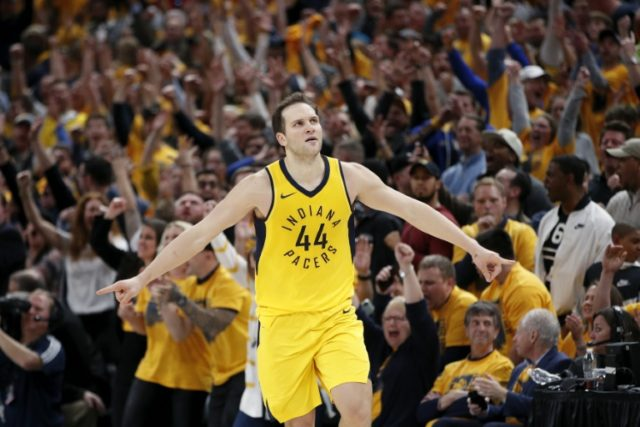 Bojan Bogdanovic scored 19 points in the second half, finishing seven of nine from beyond the arc as the Pacers stormed back from a 17 point halftime deficit to edge the Cleveland Cavaliers 92-90 in game three of their playoff series