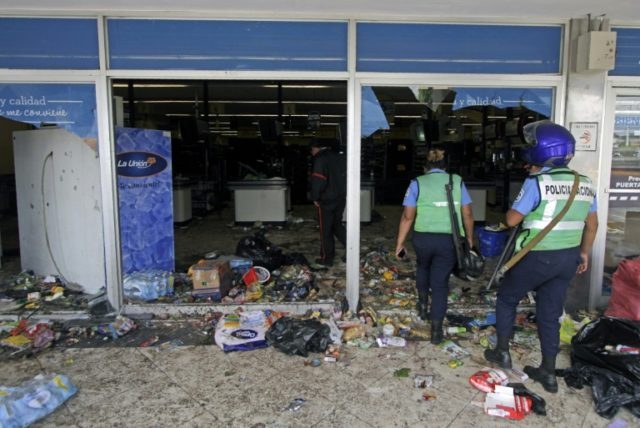 Alongside the violent protests in the Nicaraguan capital Managua and elsewhere, there were bouts of looting