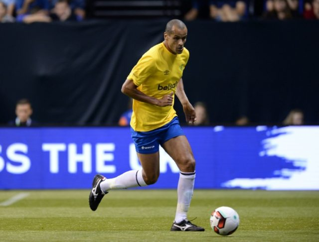 """Brazil's Rivaldo, pictured in 2017, said that """"to become the best in the world"""" his compatriot Neymar should leave for Spain"""