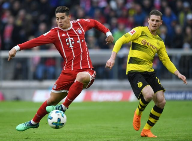 In Munich James Rodriguez (L) has rediscovered the form which saw him light up the 2014 World Cup and finish as the competition's top scorer