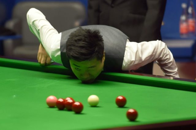 China's Ding Junhui, pictured in 2017, is bidding for his first title at the Crucible in Sheffield