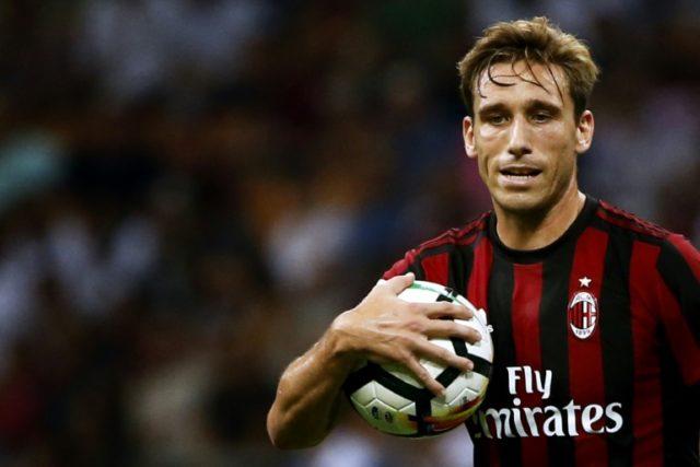 AC Milan's midfielder Lucas Biglia, pictured in 2017, hasfractured two vertebrae in his back