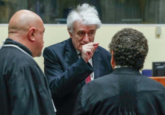 Karadzic was sentenced to 40 years in 2016 for the bloodshed committed during Bosnia's three-year war
